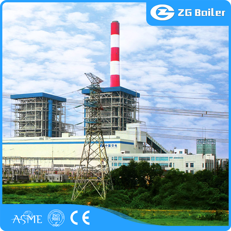 Industrial oil and gas fired steam boiler natural gas power station
