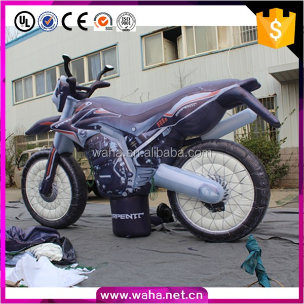 hot sell custom gaint inflatable car model / inflatable motorcycle for advertising for promotion