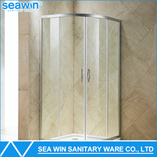 Hospitality wholesale aluminum framed round sliding curved glass shower door