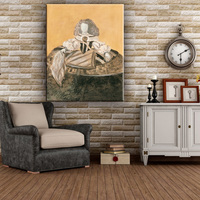 Cheap abstract modern human figure oil canvas art painting for living room
