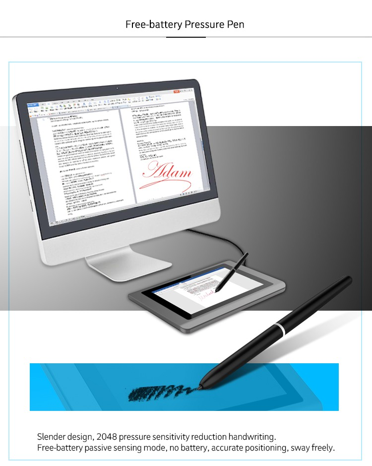 2018 New Cheapest Portable Electronic Usb Powered Signature Pad