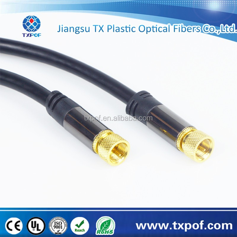Satelliate cable straight male to straight male cable SAT cable F to F plug