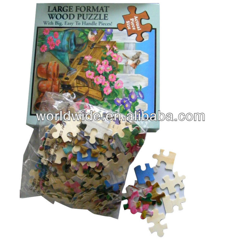 100pcs large format wood jigsaw puzzle/puzzle gifts