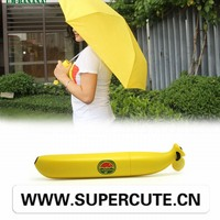 Eye-catching banana form offset umbrella