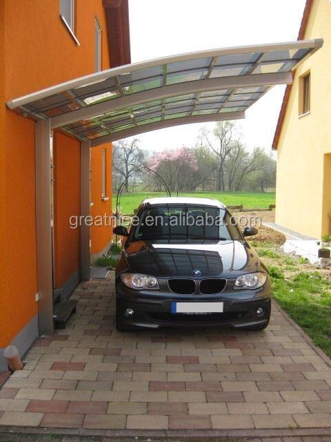 Neuen stil firma freistehender aluminium carport