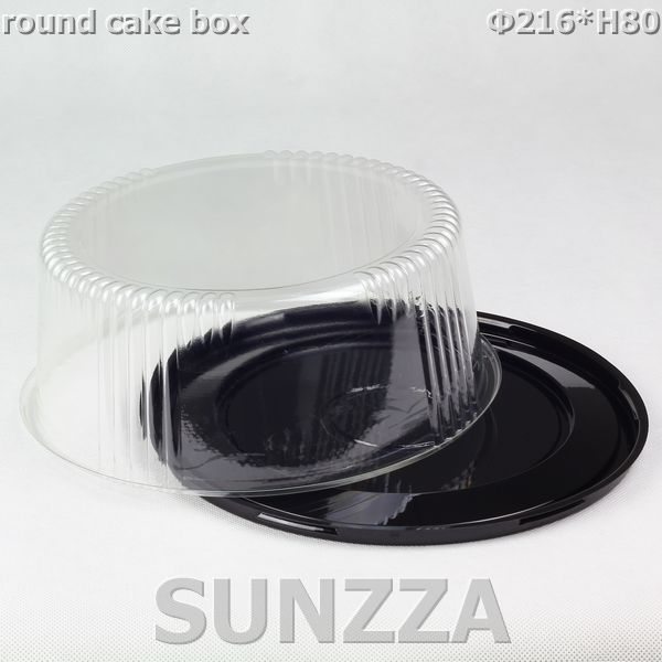 Hot sale disposable plastic Clear PET material packing cake box container