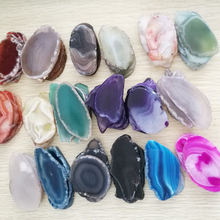 Cheap Polished Mix color Nature Stone Agate Slices Wholesale Pendant Jewelry