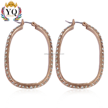 EYQ-00362 indian gold hoop earrings full of rhinestone diamond dubai jewelry