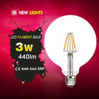 Wholesale Energy saver 4W 360 degree E27 Base G125 LED Filament Bulb