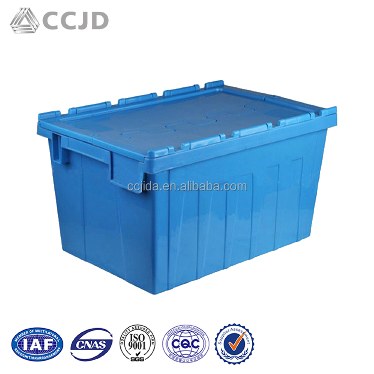 HDPE eco-friendly plastic container pallet with lid