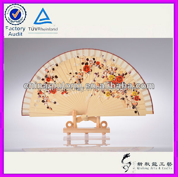 Wholesale Art Minds Crafts Wooden Fan for Decoration