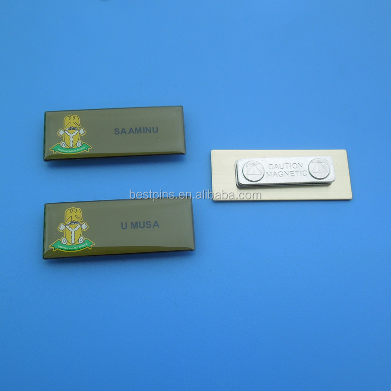 magnetic epoxy dome surface silver nameplates with different names Nigeria