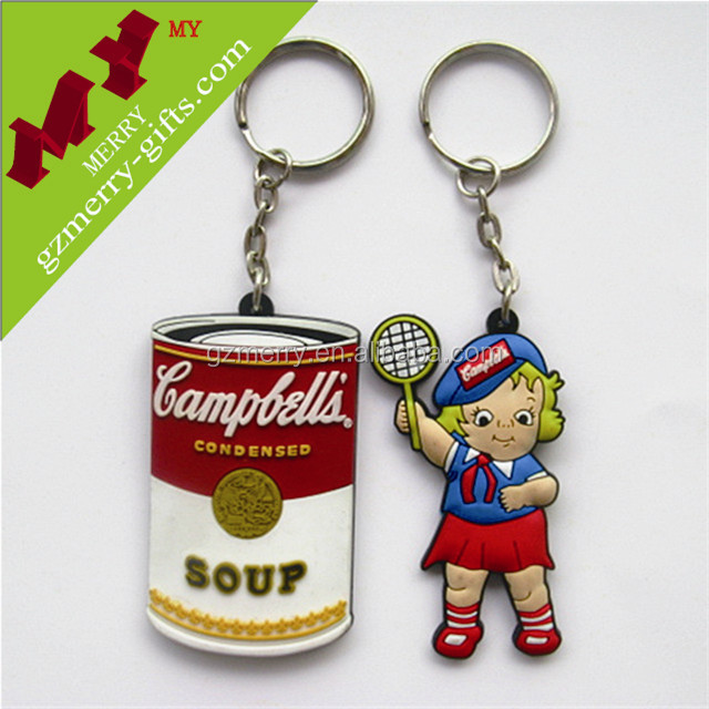 Funny gifts wholesale key chain / plastic pvc keychain