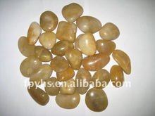 High Polished natural yellow river cobble stone