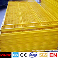 2014 hot sale plastic coated welde wire mesh panel with yellow color