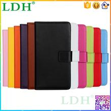 Leather wallet cover flip case for nokia lumia 720