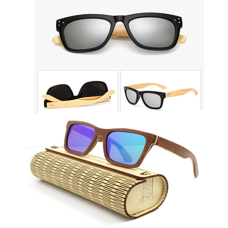 Wooden Sunglasses 2017 New Fashion Men Women <strong>Bamboo</strong> Handmade Anti Glare