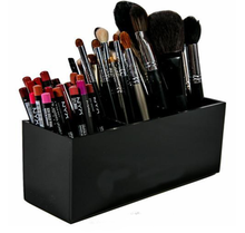 Customized 3 Slot Black Acrylic Brush And Eye/Lip Liner Organizer