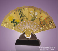 Hot selling high quality chrismas gifts bronze fountains with delicate Folding fan