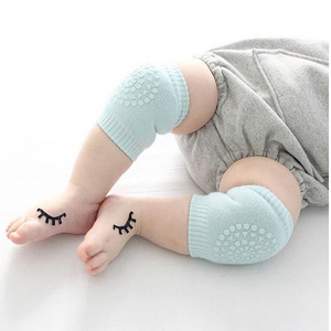 Soft cotton Baby Crawling Anti-Slip Knee sleeve baby knee protector