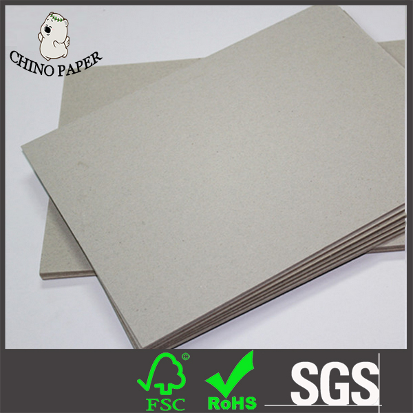 Stiff book binding 1200g 1800g grey hard paper board