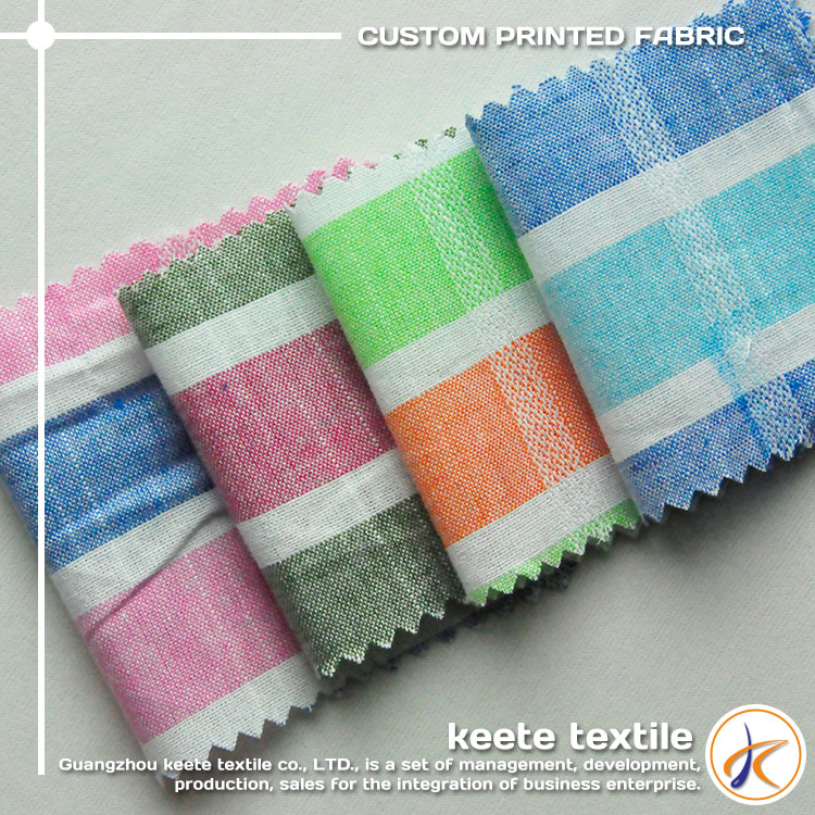 Wholesale 135gsm yarn dye tartan colourful plaid combed cotton woven 100% cotton fabric