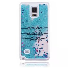 New fashion Dandelion Glitter quicksand Liquid Hard PC phone case cover for samsung galaxy S6 S7 S8 edge Note 2 3 4 back covers