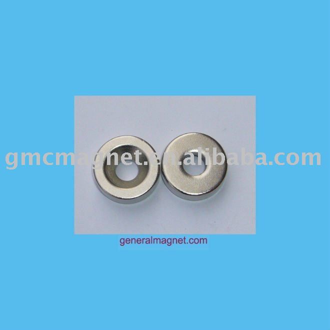 Countersunk Magnets Neodymium N35/D25mm countersunk neodymium magnets /rare earth n50 ring magnet