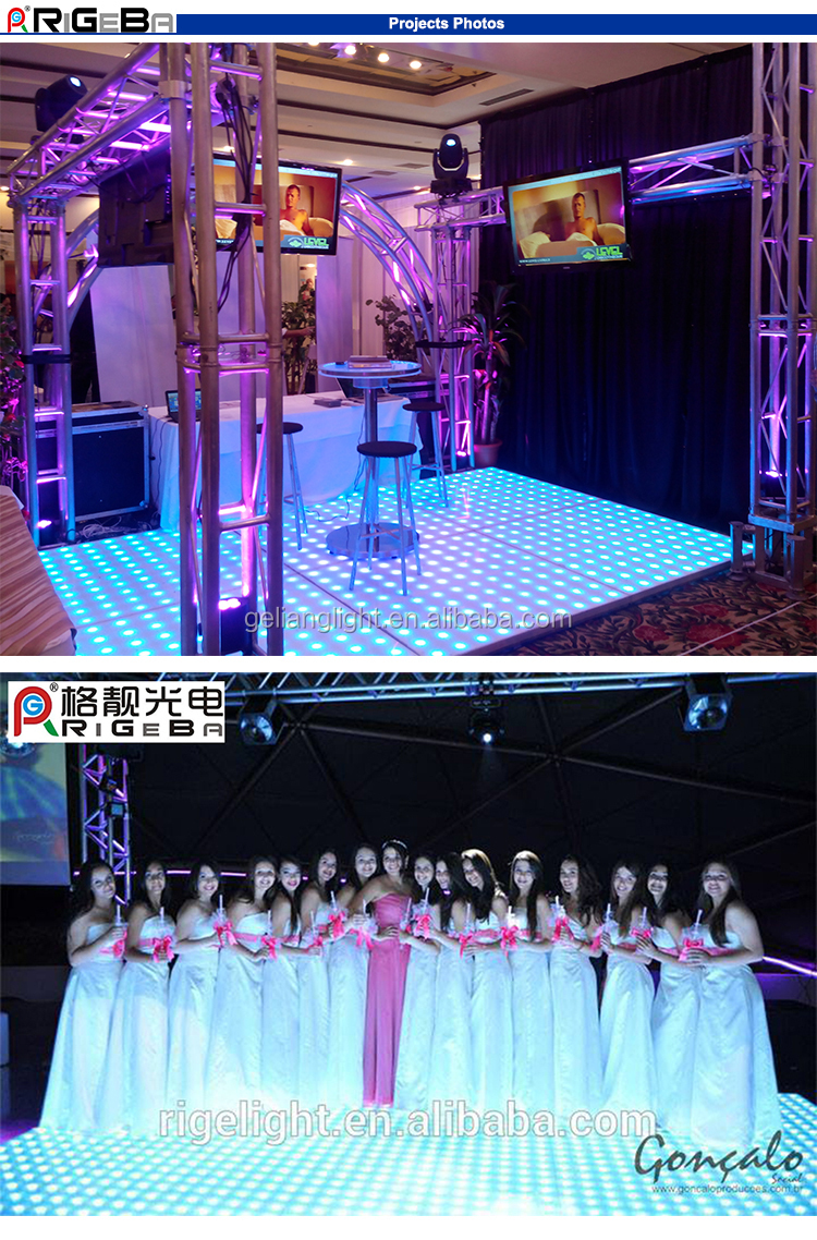 Newest World Top Selling Super Slim stage Patent LED dance floor for wedding party and bar