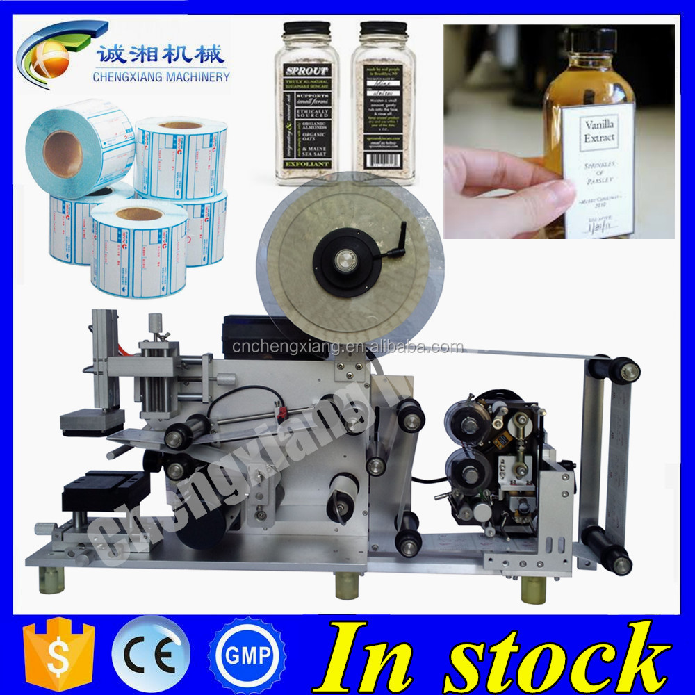 Big discount semi automatic labeling machine,flat surface label applicator