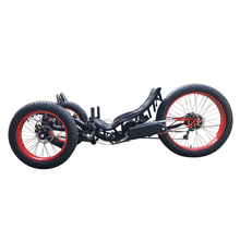 Aluminum Alloy Frame 500W Electric Drift Trike Snow Mountain Full Fat Tire Recumbent Trike for Sale