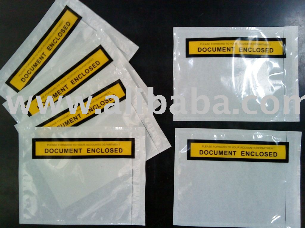 Packing List Enclosed Adhesive Envelope