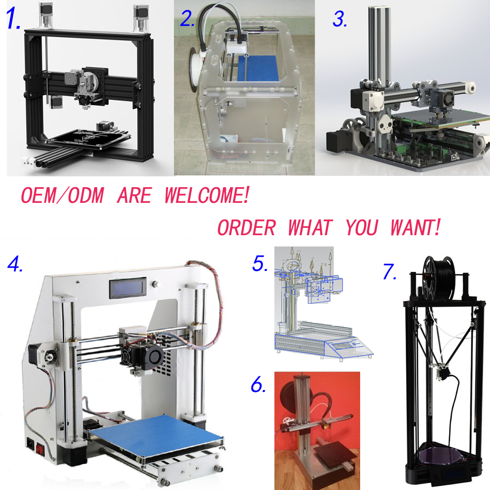 3d printer machine filament kit parts OEM/ODM factory prices whosales for student DIY