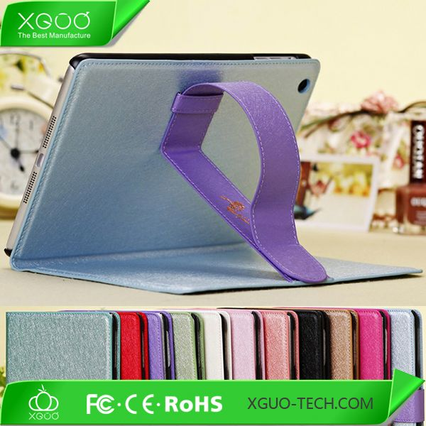 Phone accessory leather magnetic stand case for ipad mini