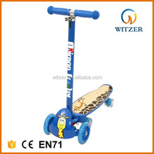 2017 popular 6 PU flashing wheels outdoor sports scooter for kids