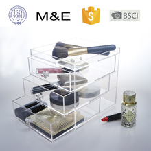 Classic Acrylic Jewelry Box Makeup Cosmetic Drawer Organizer for Puff Storage Box