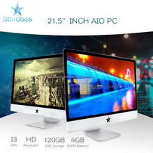 "Made in China factory 21.5"" quad core Intel i3 1080P all-in-one PC 4GB sata 500GB"