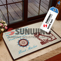 green pvc luminous step colorful door mat