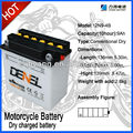 12V9Ah Dry-charged lead acid motorcycle/Scooter battery