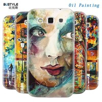 Oil Painting Designs For Samsung Galaxy Win Mobile Phone Cover With Flexibe Assembling