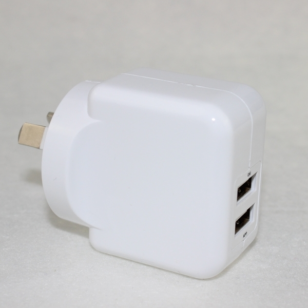 SAA approval 2.1A AU plug dual usb wall charger for iPhone smartphone