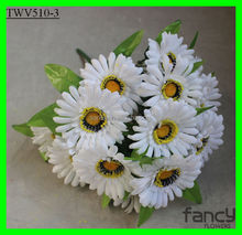 16 heads funeral flowers artificial white plastic daisy flowers
