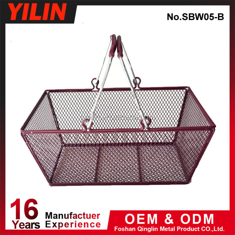 metal wire cosmetic shop shopping baskets