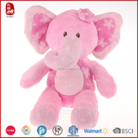 Cute high quality baby toy pink color stuffed elephant