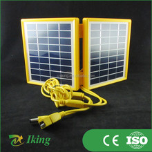 built in voltage reduce down chip 9v 3w solar panel folding pv module cells sale panel mini type