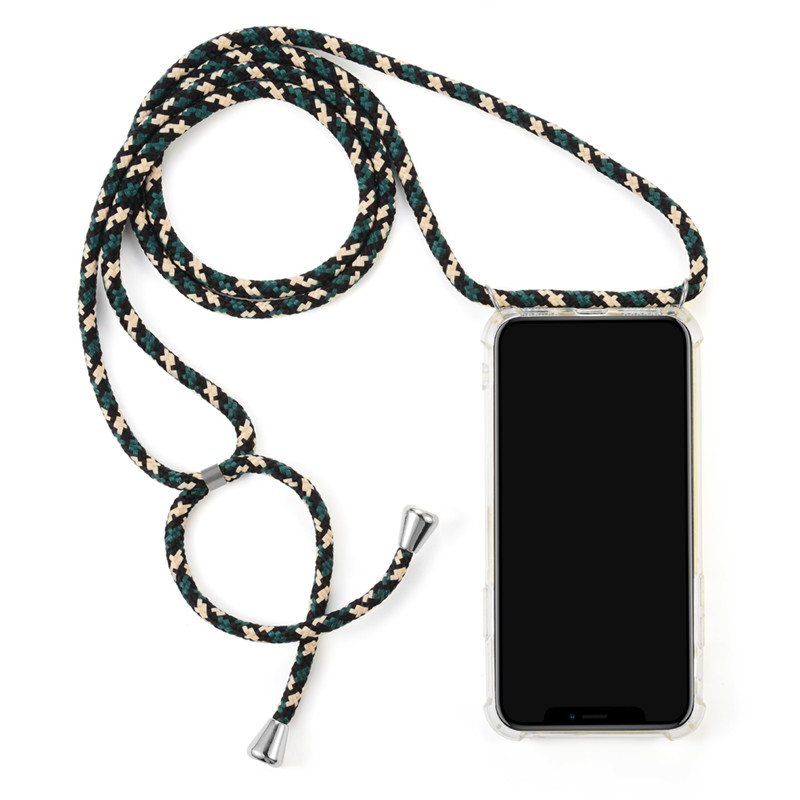 Soft TPU Transparent Shockproof Cell Phone Necklace Holder case For Samsung Note 10 pro Mobile Cover with Cord Strap