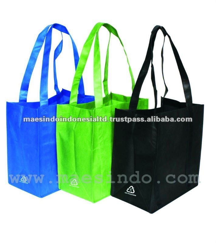 High Tensile Colored PP Non Woven Shopping Bags