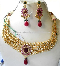 Kundan Necklace with Earrings set