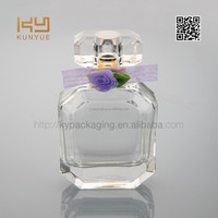 beauty 50ml square glass perfume bottle for women