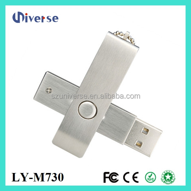2015 OEM logo 64gb usb flash drive, Metal Swivel pendrive 64gb accept paypal,custom 64 GB USB 2.0 Flash Drive